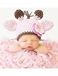 Baby Unisex Tøjsæt Daglig Ensfarvet,Bomuld Alle årstider Uden ærmer Simple Lyserød