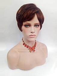 Kvinder Syntetiske parykker Kort Ret Beige Side del Med bangs / pandehår Naturlig paryk Kostumeparyk