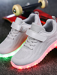 cheap -Boys' Shoes Fabric Tulle Customized Materials Winter Spring Light Up Shoes Comfort Sneakers Walking Shoes LED Lace-up for Casual Outdoor