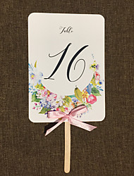 Bow(s) Art Paper Table Number Cards Classic 10