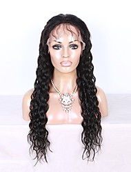 cheap -Water Wave Lace Front Human Hair Wigs with Baby Hair 130 Density Brazilian Virgin Human Hair Wigs for Black Women