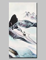 preiswerte -Handgemalte Abstrakt Vertikal, Modern Segeltuch Hang-Ölgemälde Haus Dekoration Ein Panel