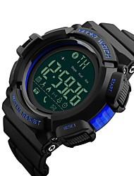 Недорогие -SKMEI Муж. Спортивные часы Кварцевый 50 m Защита от влаги Bluetooth Календарь PU Группа Цифровой Роскошь На каждый день Мода Черный - Черный Оранжевый Синий / Педометры / Хронометр