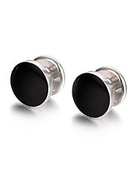 cheap -Circle Black Cufflinks Alloy Fashion Cool Party Gift Men's Costume Jewelry