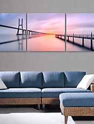 cheap -Canvas Print Modern, Three Panels Canvas Square Print Wall Decor Home Decoration