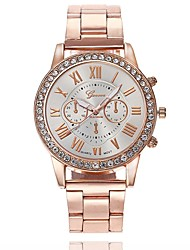 cheap -Women's Wrist watch Fashion Watch Chinese Quartz Large Dial Alloy Band Casual Minimalist Rose Gold