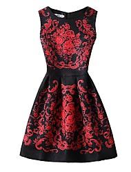 cheap -Women's Work A Line Dress - Print High Waist