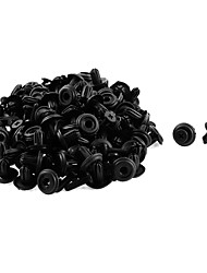 cheap -50 Pcs 14 x 6mm Black Plastic Bumper Fender Lining Push-Type Retainer Rivet