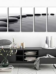 baratos -Tela de impressão Rústico Modern, 5 Painéis Tela de pintura Vertical Estampado Decoração de Parede Decoração para casa