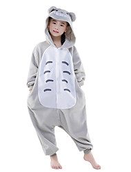 cheap -Kigurumi Pajamas Totoro / Anime Onesie Pajamas Costume Polar Fleece Gray Cosplay For Kid's Animal Sleepwear Cartoon Halloween Festival /