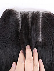 cheap -Classic 3.5x4 Closure Human Hair 3 Part High Quality Daily