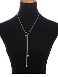 abordables -Femme Fleur Balle Perle imitée Imitation de perle Collier multi rangs  -  Fleur Classique Elégant Or Argent Jaune Colliers Tendance Pour