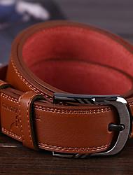 Недорогие -мужской натуральный кожаный пояс талии, хаки светло-коричневый черный casual