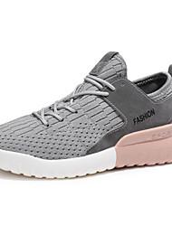 cheap -Women's Shoes Net Spring Summer Comfort Sneakers Flat Heel for Casual Outdoor White Black Dark Grey