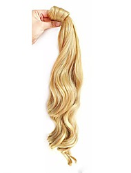 cheap -Clip In Wavy Ponytails Wrap Around Hair Piece Hair Extension 20 inch Medium Auburn Dark Auburn Light Blonde Platinum Blonde Dark Wine