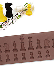cheap -16 Cavity Chess Shaped Chocolate Cake Sugar Silicone Mould Ice Mini Cube Tray Baking Pastry Tools