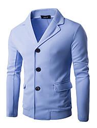 Jednobarevné Denní Na běžné nošení Bunda-Celoroční Polyester Do V Dlouhé rukávy Standardní