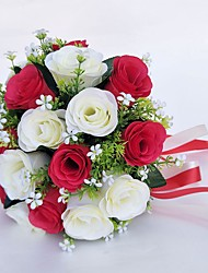 abordables -Fleurs de mariage Bouquets Mariage Occasion spéciale Polyester 25cm