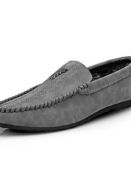cheap -Men's Shoes Nappa Leather Summer Moccasin Loafers & Slip-Ons for Outdoor Black Gray Red