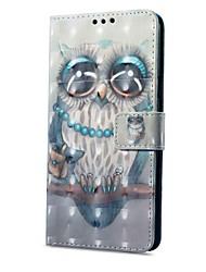 abordables -Funda Para Samsung Galaxy A8 2018 A8 Plus 2018 Soporte de Coche Cartera con Soporte Flip Magnética Diseños Funda de Cuerpo Entero Búho