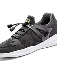 baratos -Homens sapatos Micofibra Sintética PU Primavera Outono Conforto Tênis Basquete para Atlético Preto Azul Escuro Cinzento