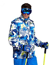 cheap -Men's Ski Jacket Warm, Waterproof, Thermal / Warm Camping / Hiking / Ski / Snowboard / Back Country Polyester Winter Jacket Ski Wear