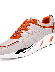 cheap -Men's Rubber Spring / Fall Comfort Athletic Shoes White / Black / Orange