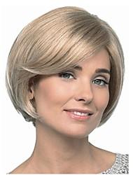 abordables -Perruque Synthétique Droit Coupe Carré Blond Femme Sans bonnet Perruque de célébrité Perruque Naturelle Moyen Cheveux Synthétiques