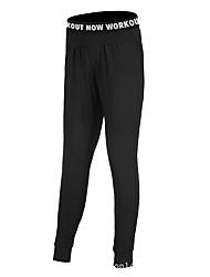 preiswerte -Damen Enge Laufhosen Rasche Trocknung Strumpfhosen/Lange Radhose Laufen Baumwolle Schwarz Grau S M L XL