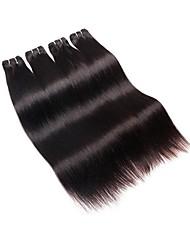 Недорогие -дешевые бразильские прямые remy выдвижения человеческих волос пучки ткет 4pieces 200g серия естественный черный цвет мягкая ровная