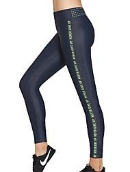 abordables -Mujer Pantalones Jogger / Pantalones de Running - Rosa Rojo, Verde Deportes Letra Licra Pantalones / Sobrepantalón / Leggings Ropa de