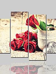 economico -Stampe di tela arrotolata Classico Modern, Quattro Pannelli Tela Orizzontale Stampa Decorazioni da parete Decorazioni per la casa