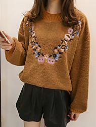 economico -Per donna Manica lunga Cashmere Pullover Monocolore