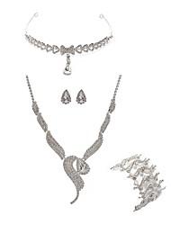 baratos -Mulheres Gema Imitações de Diamante Raposa Conjunto de jóias Jóias para o Corpo / 1 Colar / 1 Bracelete - Fashion / Europeu Branco Sets