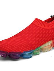 Недорогие -Муж. обувь Тюль Весна Осень Удобная обувь Спортивная обувь Беговая обувь для Атлетический Повседневные Белый Черный Красный