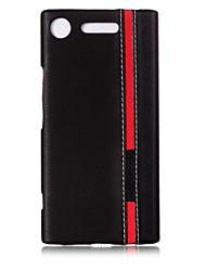 Недорогие -Кейс для Назначение Sony Xperia XZ1 Xperia XA1 С узором Задняя крышка Полосы / волосы Твердый Искусственная кожа для Z5 Sony Xperia Z3