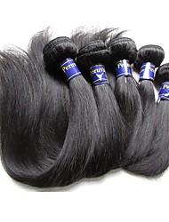 Недорогие -Пряди натуральных волос Реми Высокое качество 12 месяцев 0.5 Повседневные Классика Прямой силуэт