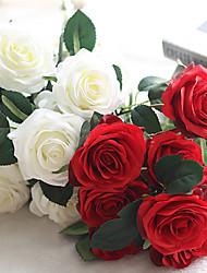 abordables -Fleurs artificielles 1 Une succursale Style européen Roses Fleur de Table
