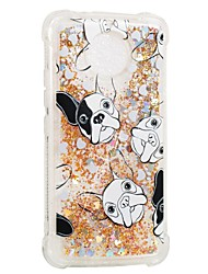 cheap -Case For Motorola MOTO E4 Shockproof Flowing Liquid Pattern Back Cover Dog Soft TPU for Moto G5s Moto E4