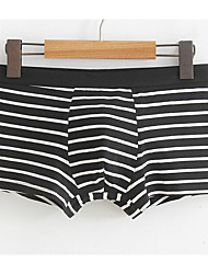 cheap -Men's Micro-elastic Striped Boxers Underwear Medium,Polyester 1pc Light Blue Gray Red Black Blue