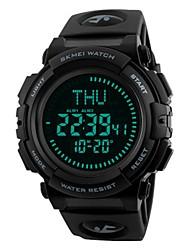 Недорогие -SKMEI Муж. Спортивные часы Цифровой 50 m Защита от влаги Календарь Хронометр PU Группа Цифровой Роскошь На каждый день Мода Черный / Цвет клевера - Черный Синий / Фосфоресцирующий