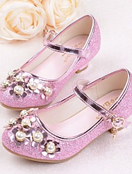 cheap -Girls' Shoes PU(Polyurethane) Spring & Summer Comfort / Flower Girl Shoes / Tiny Heels for Teens Heels for Silver / Purple / Pink