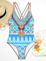 cheap -Women's Halter One-piece Print