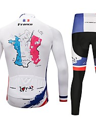 cheap -CYCOBYCO Cycling Jersey with Tights Men's Long Sleeves Bike Pants / Trousers Jersey Tights Top Clothing Suits Bike Wear Fast Dry Quick