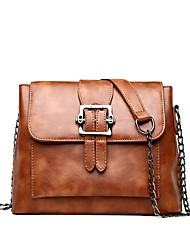 cheap -Women's Bags PU Shoulder Bag Buttons for Outdoor All Seasons Green Black Blushing Pink Brown
