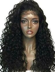 cheap -Human Hair Lace Front Wig Indian Hair Curly Kinky Curly With Baby Hair 130% Density Unprocessed 100% Virgin Middle Part Natural Hairline