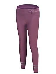 abordables -Femme Pantalons de Course Respirabilité Pantalon / Surpantalon Course / Running Polyester, Spandex Violet / Gris foncé S / M / L