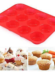 cheap -Cake Molds Round For Candy Cookie Cake For Cake For Bread Silica Gel DIY Valentine's Day New Year's Birthday