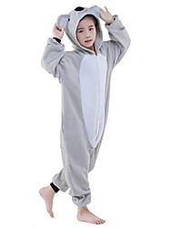 cheap -Kigurumi Pajamas Koala Onesie Pajamas Costume Polar Fleece Gray Cosplay For Kid's Animal Sleepwear Cartoon Halloween Festival / Holiday