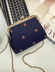 cheap -Women's Bags PU Shoulder Bag Buttons for Casual All Seasons Blue White Black